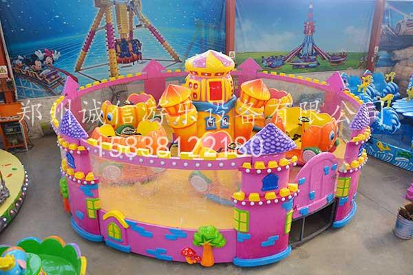 欢乐城堡喷球车游乐设备
