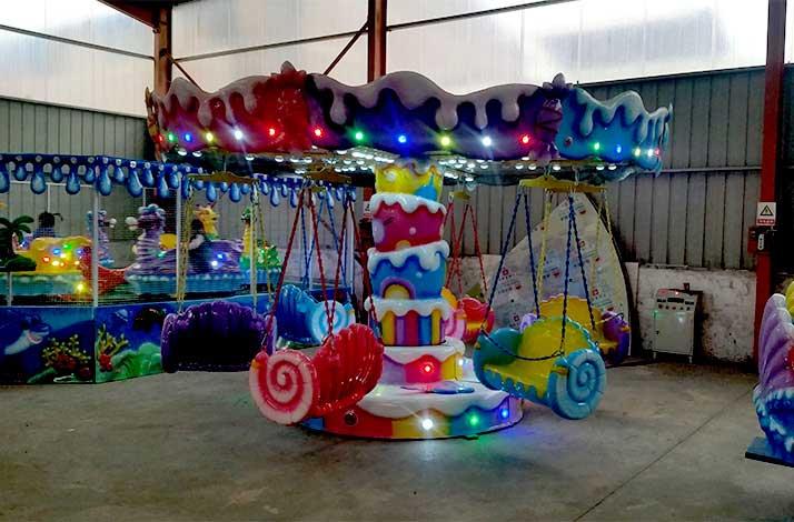 糖果飞椅游乐设备